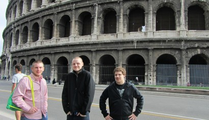 Zach, Mitch, and Sam in Rome